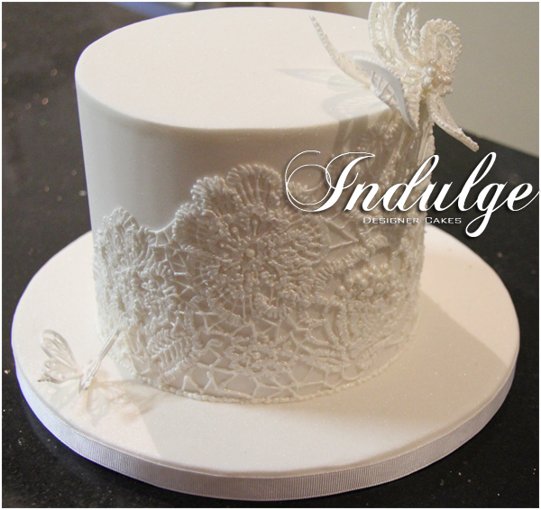 Single Tier Wedding Cakes Pictures